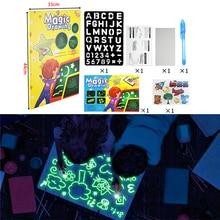1 шт. A4 A5 светодиодный светящийся чертежный щит для рисования граффити, планшет для рисования, волшебное рисование, светильник-забавная флуоресцентная ручка, обучающая игрушка
