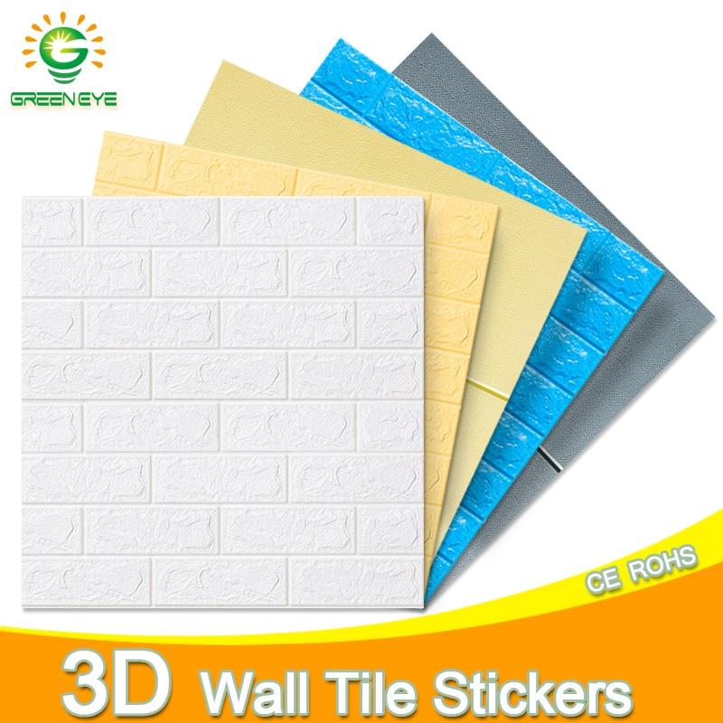3D Wallpaper 70cm*77cm DIY Marble Waterproof Stickers 3D Wall Paper Self-Adhesive Wallpaper Brick For Home Kitchen Bedroom