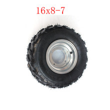 Lightning shipping  Good Quality 16x8.00-7 Vacuum Tyre ATV Tire Fit for ATV 50CC,90CC,70CC,110CC,125CC Outer Tyre