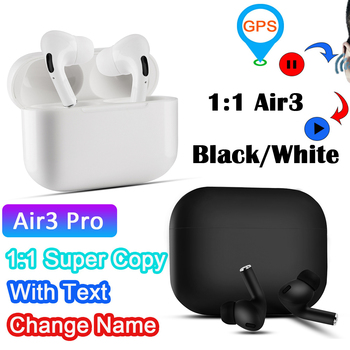 Air 3 Bluetooth Earphone Wireless earphones gps change name Surround & Charging case for Android iPhone 1:1 air pro