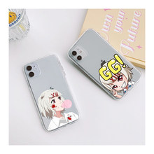 Japão anime juuzou suzuya tóquio ghouls caso de telefone para o iphone 12 mini 11 pro xs x xr max 7 8 6s mais claro silicone coque