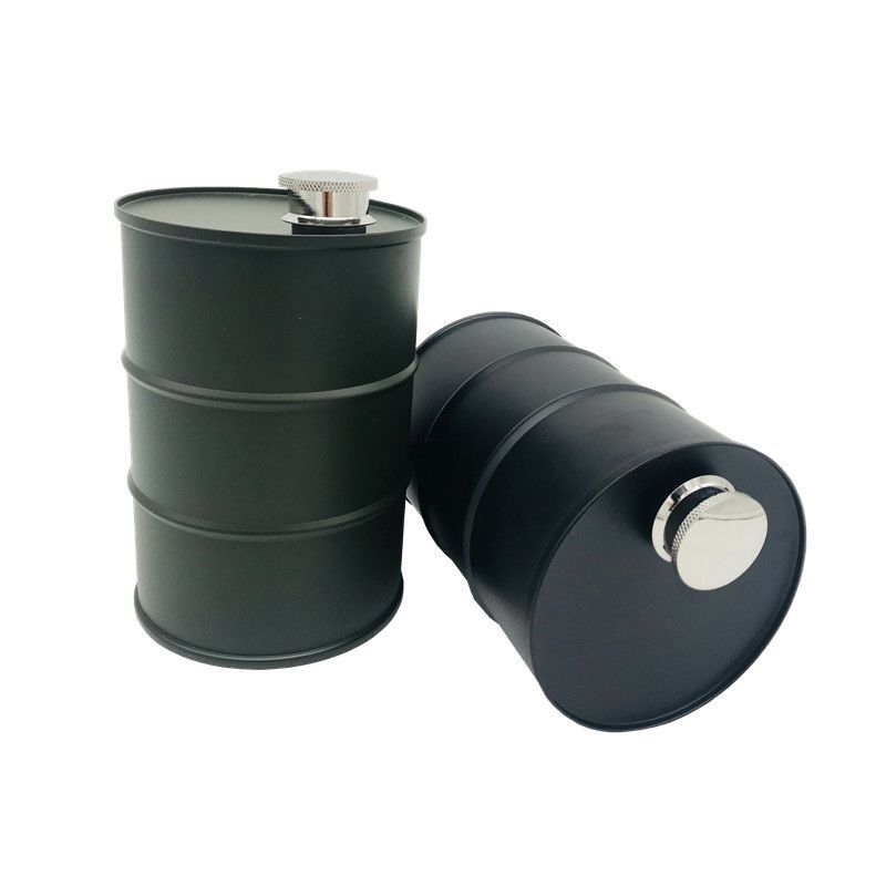 Outdoor Portable Stainless Steel Hip Flask Travel Beer Barrel Wine Pot Bottle