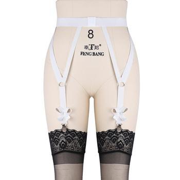 1Pc Hot Women Sexy Leg Bow Garter Belt Elastic Cage Body Hollow Leg Garter Belt Suspender Strap Underwear Leg Strap Garter Belt фото