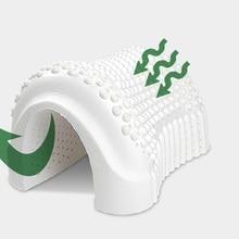 Импортированная из Таиланда натуральная латексная массажная подушка, мягкая и дышащая натуральная Экологичная Подушка для сна