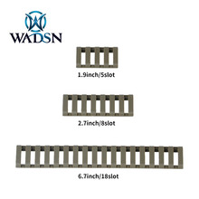 WADSN 5Pack/lot Tactical Ladder Rail Cover Rubber Hunting Rifle Handguard Panel 5/8/18slot Fit 20mm Picatinny MP02060