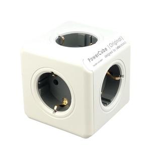 Image 5 - Allocacoc כוח רצועת האיחוד האירופי תקע קיר שקע מתאם PowerCube 4 חכם שקעי חשמל 250V 3680W הארכת עבור בית משרד