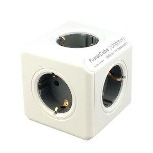 Image 5 - Allocacoc電源ストリップeuプラグウォールusbソケットアダプタpowercube 4スマートアウトレット電気250v 3680ワットのためのホームオフィス