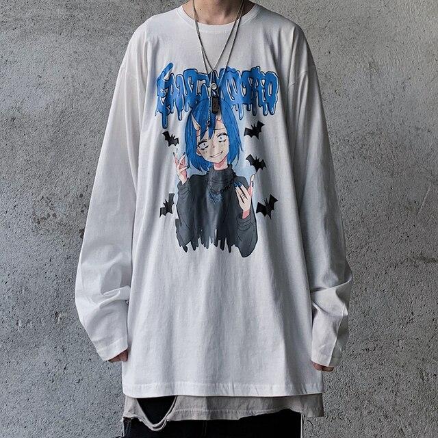 универсальная хлопковая винтажная футболка в стиле хип хоп с фотография