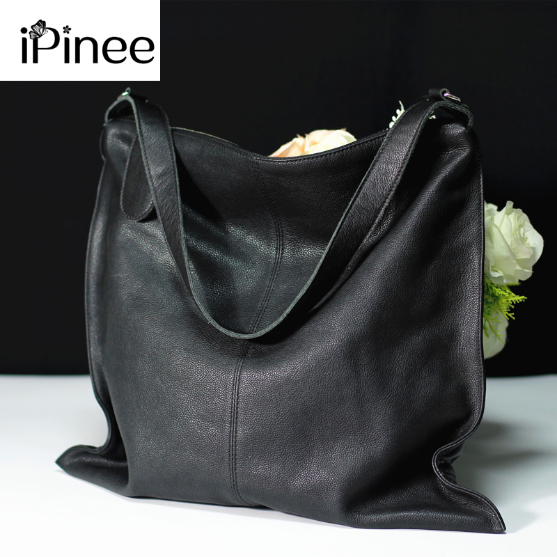 IPinee Shoulder Bag Women Designer Handbag High Quality Female Hobo Bag Tote Genuine Leather Large Crossbody Bags Ladies