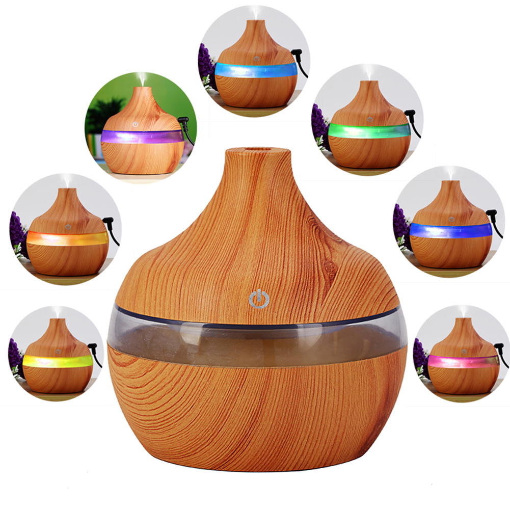 Car Humidifier USB Ultrasonic Essential Oil Air Purification Diffuser UV Aroma Aromatherapy Wooden