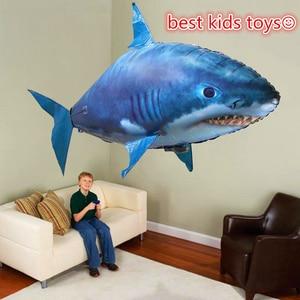 Image 1 - Pilot rekin zabawki powietrze pływanie ryby podczerwieni RC latające balony dekoracyjne Nemo Clown ryby dzieci zabawki prezenty strona dekoracji