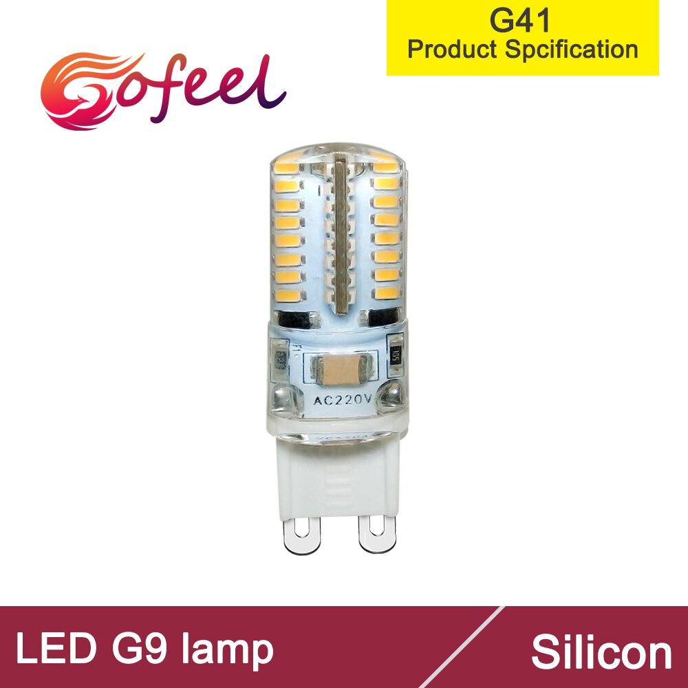 8 pièces G9 64 pièces 3014LED 2.5W 220V 230VAC Mini ampoule Silicone cristal lumières projecteur Machine à coudre lumière lustre halogène lumière