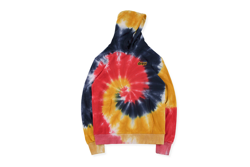 2019 Best Version Justin Bieber Drew House Drew Embroidery Tie-dye Hoodie Sweatshirts Hiphop Oversized Casual Hoodie Pullover