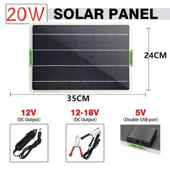 Flexible Solar Panel 20W Panels Solar Cells Cell Module DC For Car Yacht Light RV 12V Battery Boat Outdoor Charger 5V/18V/9V solar panel 5v 6v 9v 12v 18v photovoltaic panel epoxy solar cell 1w 2w 3w 5w 6w 7w 9w 10w battery charger for mini solar system