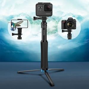 Image 2 - Đa chức năng Toàn Nhôm Đa Năng Chân Máy Cầm Tay Monopod Cho GoPro 7 DJI OSMO Camera Hành Động điện thoại thông minh
