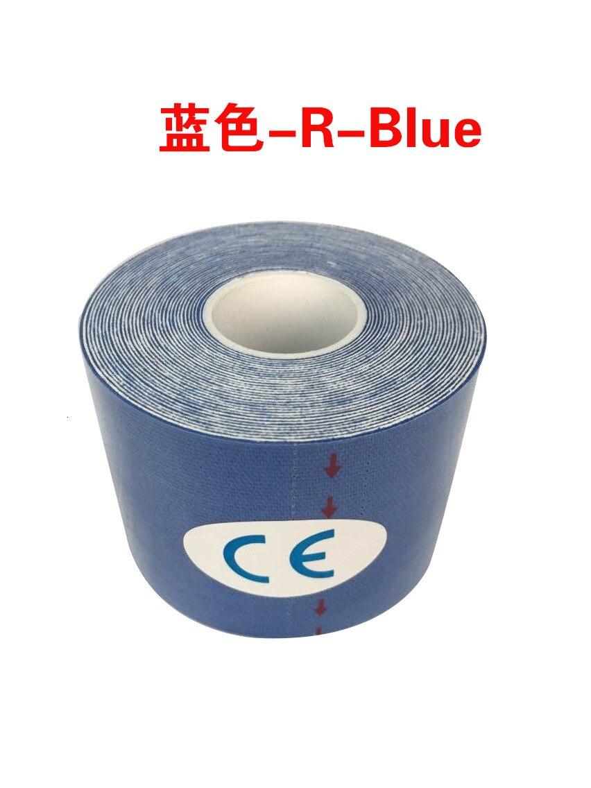 Кинезиологическая лента Атлетическая эластопласт спортивная водонепроницаемая лента медицинская терапия самоклеющаяся повязка на колено Защитная муфта для мышц L2147SPA - Цвет: Фиолетовый