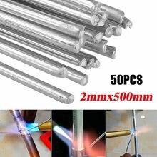 50 stücke 2mm Aluminium Schweißen Stangen Lösung Flux Entkernt Schweißen Elektroden Draht Solder Niedrige Schmelz Löten Niedrigen Temperatur