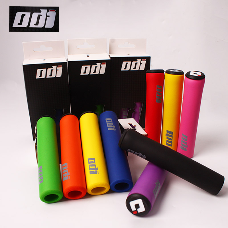 ODI MTB Handlebar Grips Bicycle Silicone Handlebar Grips Anti-skid Shock-absorbing Soft Mountain Bicycle Grip Bike Accessories