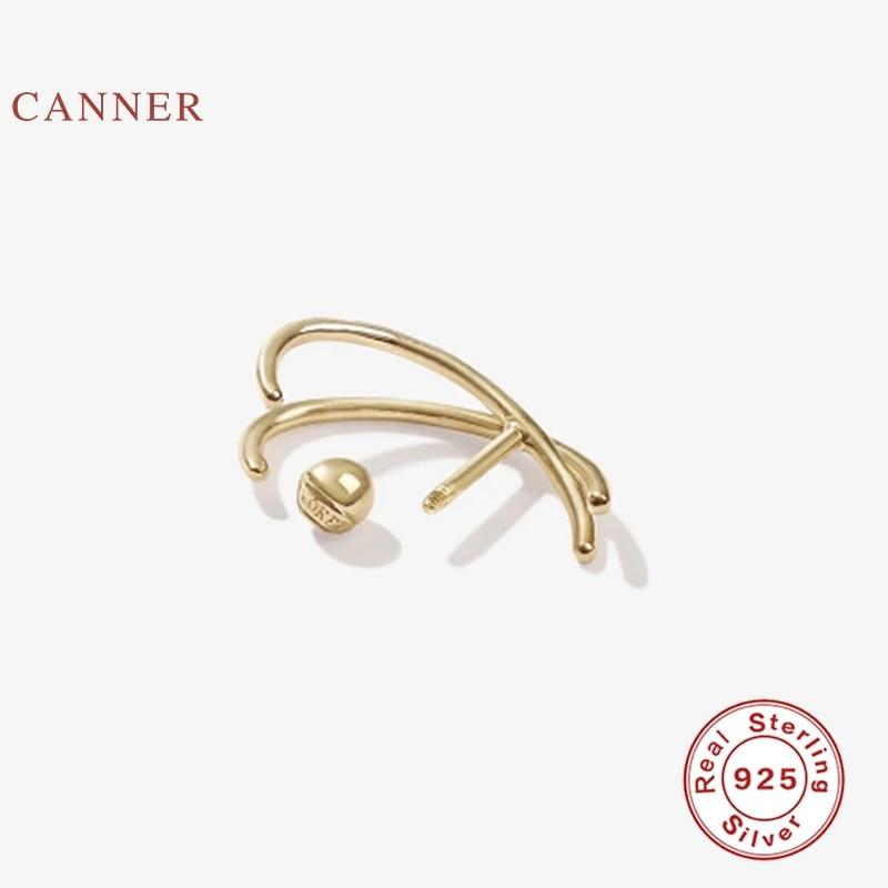 CANNER Piercing Earrings Hoops 925 Sterling Silver Earrings For Women Fashionable Silver...