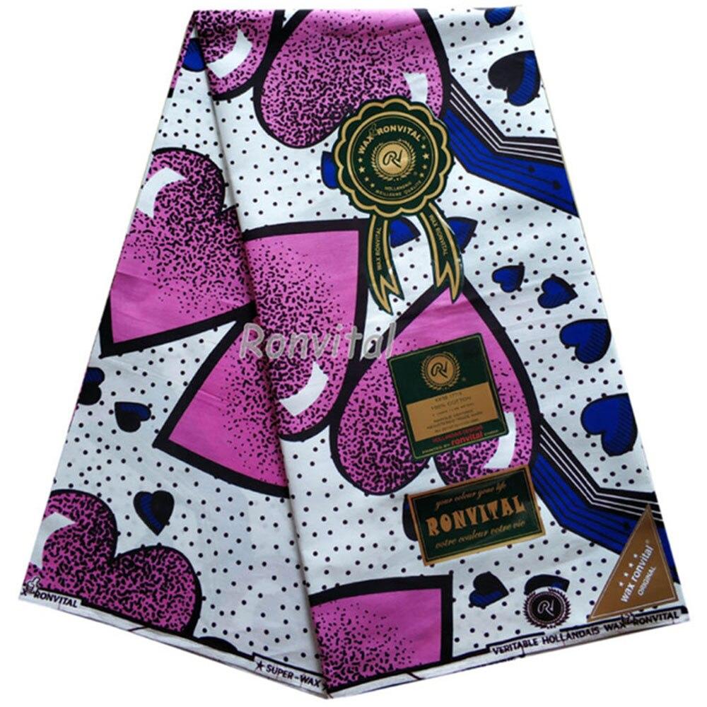 African Fabric Wax Print African Ankara Wax High Quality Pagne 6yards African Ankara Sewing Fabric