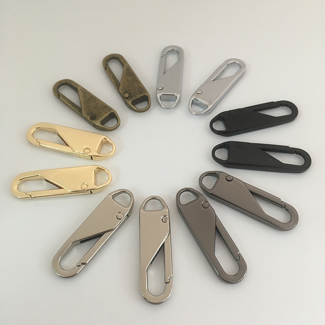 2pcs Fashion Metal Zipper head Zipper lightning Repair Kits Zipper Pull for Zipper Slider DIY Sewing Craft sewing Kits Metal Zip