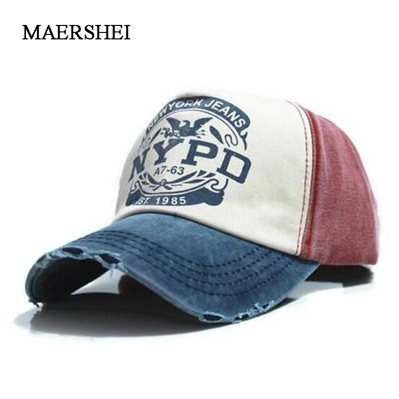 MAERSHEI Men's Washed Letters To Do The Old Baseball Cap Personality Edging Cap Driver Cap Sanpback
