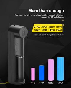 Image 3 - PHOMAX светодиодный интеллектуальный индикатор с 1 слотом, быстрая зарядка 18650 IMR/li ion AA AAA 16340 18700 17650 3,7 4,2 В, зарядное устройство для аккумуляторных батарей