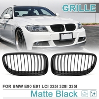 Uxcell Matte Black Racing Grills Front Kidney Grille Grill For 2009 2011 BMW E90 E91 LCI 325i 328i 335i 4door
