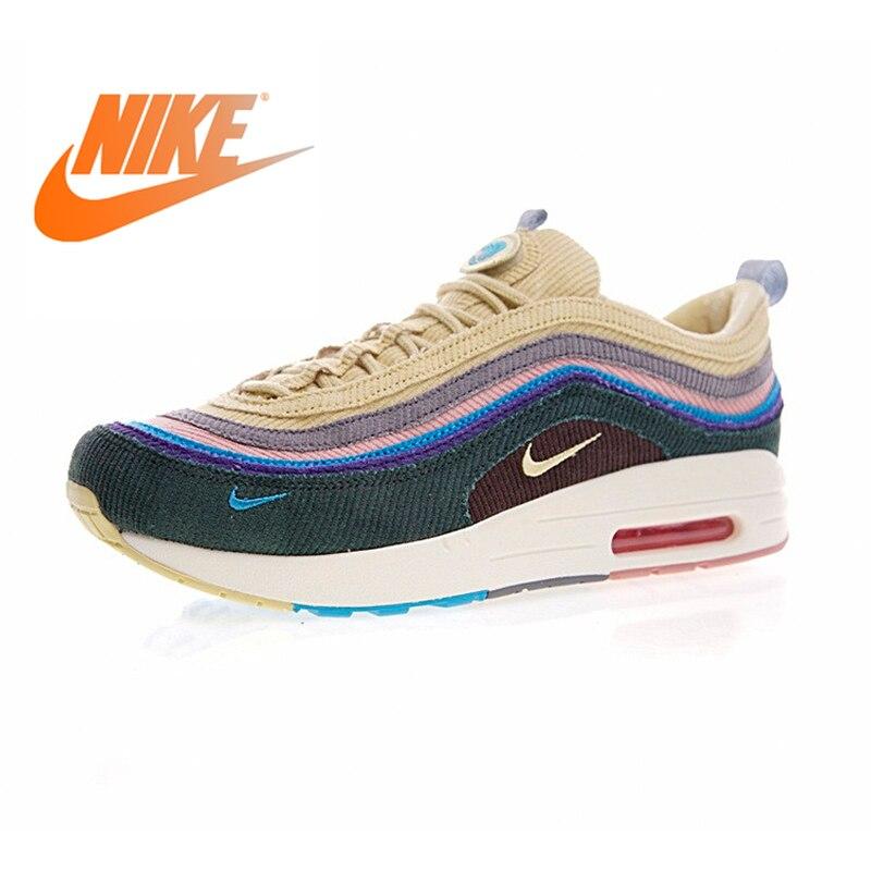 Original Authentic Nike Air Max 1/97 VF SW Mens Running Shoes Sneakers Sport Outdoor Walking Jogging Sneakers Comfortable