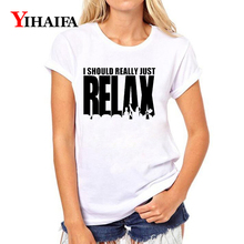 Women T-shirt 3D Print Funny Letters Relax Graphic Tee Casual Lady Summer White T shirts Funny Short Sleeve O-Neck Tops цена