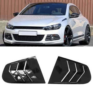 Car Side Window Louver Scoop Cover Vent Carbon Surface Style Spoiler Decorative for Scirocco 2009-2018