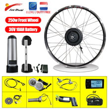 36V Electric Bike Conversion Kit with 10AH Battery Electric Bicycle Conversion kit 250w Brushless  Motor 26 Inch Front Wheel