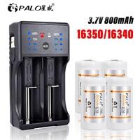 3,7 V Lithium-Li-Ion 16340 16350 Akku 800mAh CR123A CR17345 Batterien für LED Taschenlampe Arlo Sicherheit Kamera L70