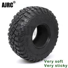 AJRC 2.2-inch 120mm rubber tires for 1/10 rock track Redcat SCX10 II axial 90046 90047 trx-4 RC4WD d90 d110 TF2 RC car