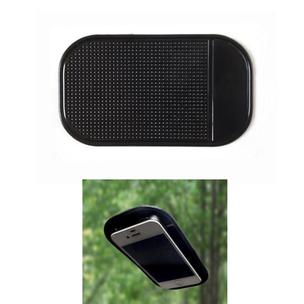Tapis antidérapant de voiture en Silicone 13*7cm   Tapis dintérieur de tableau de bord du téléphone, tapis de rangement antidérapant pour la voiture, tapis pour téléphone portable, accessoires de voiture