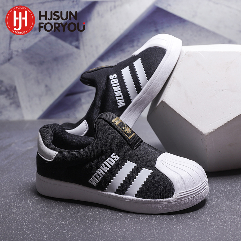 New Arrived Children Shoes Kids Comfortable Sneakers Shell Head Shoes Baby Breathable Trainers Boys Girls Casual Sport Shoes