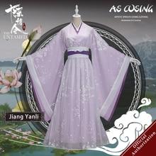 Uwowo сериал Mo Dao Zu Shi The Untamed Jiang Yanli, карнавальный костюм, старинная Дамская одежда с аксессуарами