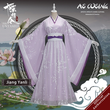 Uwowo TV Series Mo Dao Zu Shi The Untamed Jiang Yanli Cosplay Costume Ancient Lady Clothing With Accessories