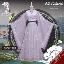 Uwowo TV Series Mo Dao Zu Shi Untamed Jiang Yanliคอสเพลย์เครื่องแต่งกายโบราณเสื้อผ้าพร้อมอุปกรณ์เสริม