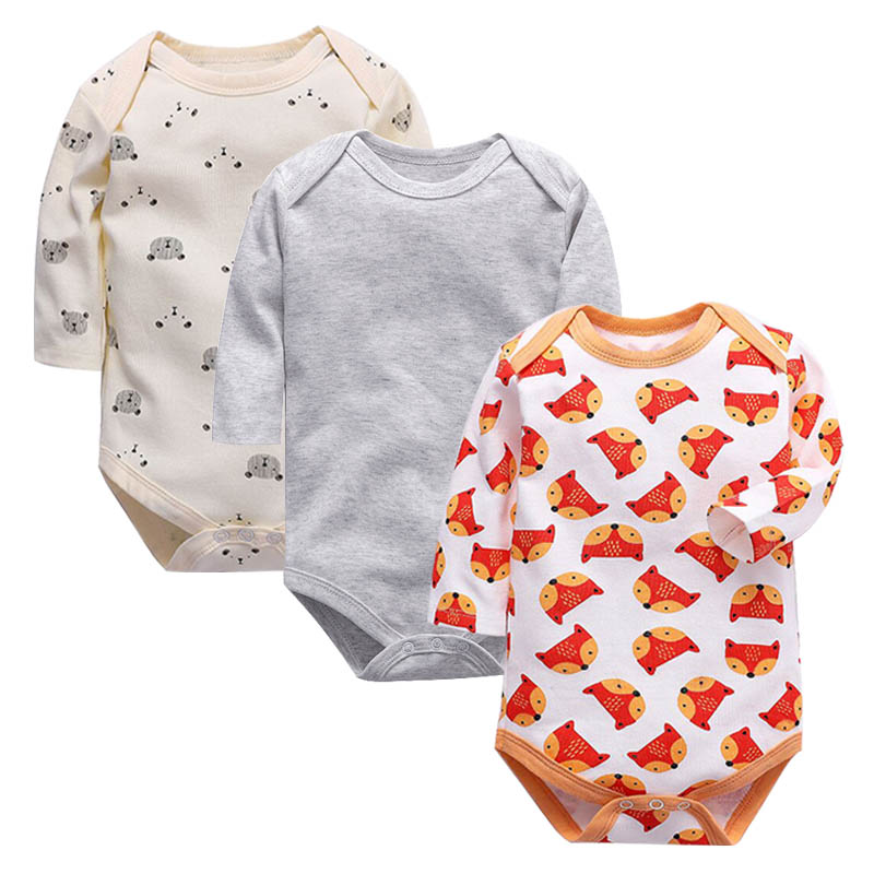 Baby Bodysuit 1pieces/lot Autumn Newborn 100% Cotton Body Baby Long Sleeve Underwear Infant Boys and Girls Pajamas Clothing