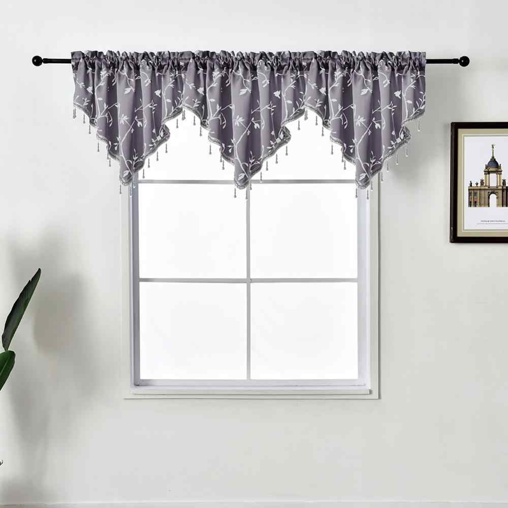 Napearl 1 Piece Valance Flag Curtains With Beads Home Decor Modern