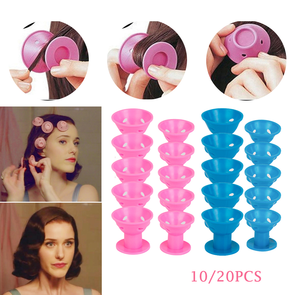 10/20pcs/set Magic Hair Care Rollers for Curlers Sleeping No Heat Soft Rubber Silicone Hair Curler Twist Hair Styling DIY Tool-in Hair Rollers from Beauty & Health