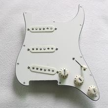 Prewired VintageสีขาวSTกีตาร์PickguardโหลดDonlis 60s Vintage Alnico PickupsสำหรับPickguard Stratocaster Гитара