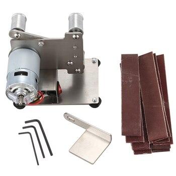 Small Mini Belt Machine DIY Polishing Machine Grinding Machine Fixed Angle Sharpening Machine Blade Desktop