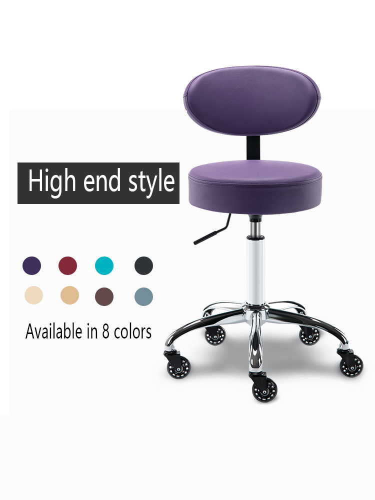 Salon Furniture Special Lift Rotary Chair Barber Shop Beauty Salon Pedicure Chair Ergonomics Comfortable Bar Chair With Back