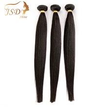 JSDShine Brasilianische Haarwebart Bundles Gerade Menschliches Haar 3 Bundles 100g/pc Natürliche Farbe Nicht Remy Haar Extensions