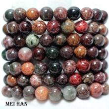 Meihan 도매 (2 개의 팔찌/세트/38 구슬) 보석 만들기를위한 10 10.8mm 자연적인 브라질 팬텀 결정 매끄러운 둥근 느슨한 구슬