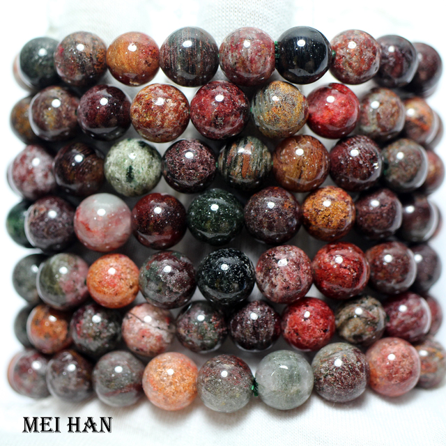 Meihan wholesale (2 bracelets/set/38 beads) 10 10.8mm natural Brazil phantom crystal smooth round loose beads for jewelry making
