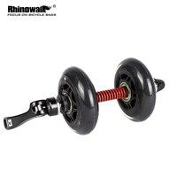 Rhinowalk 접이식 자전거 스크롤 휠 부스터 휠 롤러 보조 부스터 훈련 보조 드라이브 촉진 (검정색)|자전거 바퀴|   -