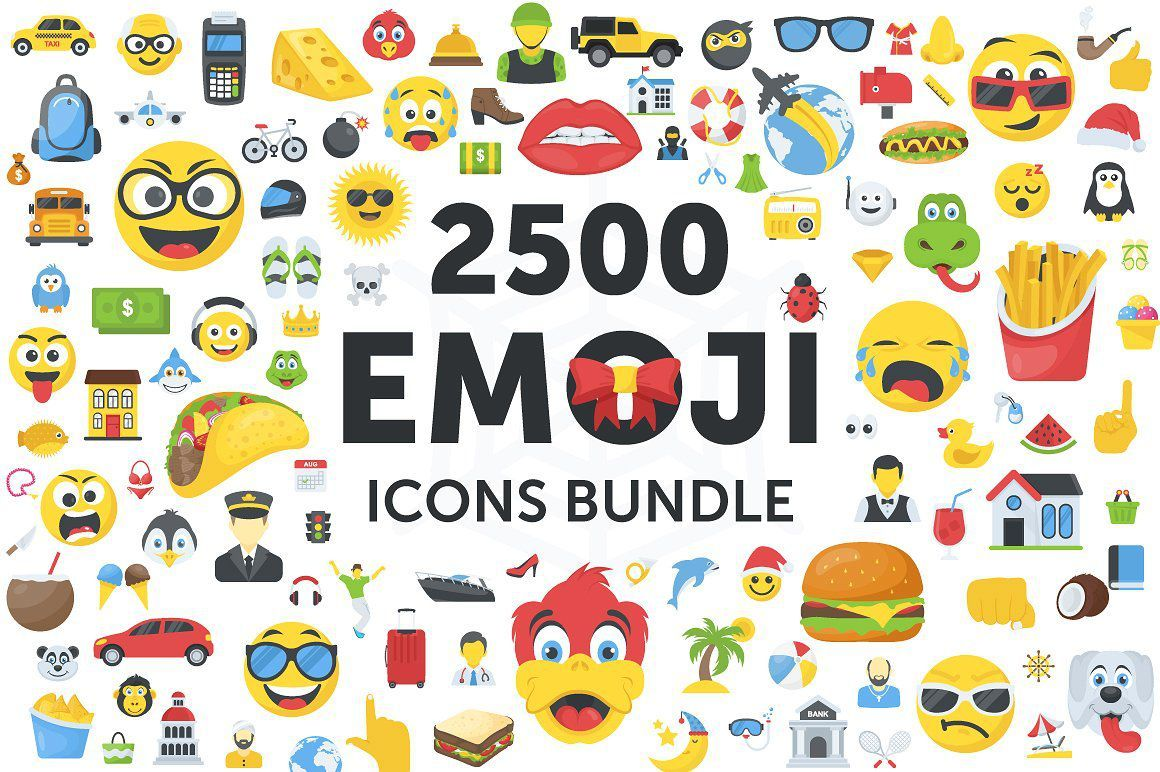 矢量图形-2500个表情符号emoji图标合集打包下载 格式AI,EPS,SVG,PNG,PDF,JPG(3)